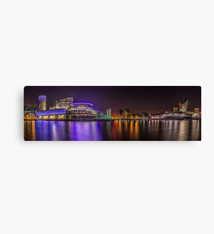 Salford Quays Night-time Panorama Canvas Print