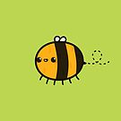 Cute happy bee by peppermintpopuk