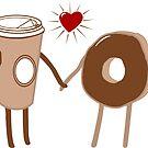 Coffee Loves Donut by EthosWear