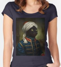 The Hermitage Court Moor Cat  Women's Fitted Scoop T-Shirt