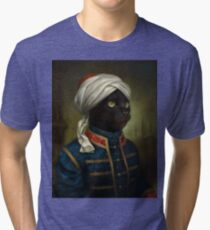 The Hermitage Court Moor Cat  Tri-blend T-Shirt