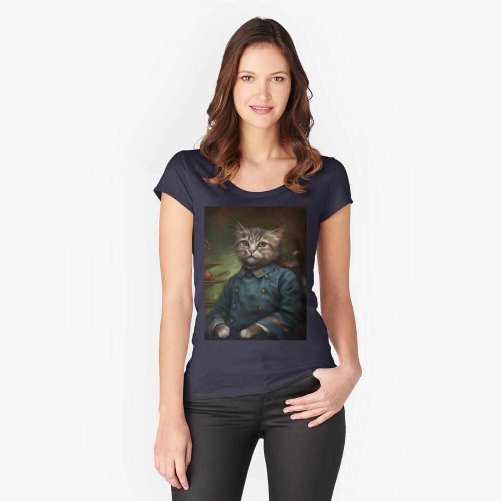 The Hermitage Court Confectioner Apprentice Cat Camiseta entallada de cuello redondo