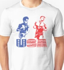 Rocky vs Drago - USA Patriotic Design - Rocky IV - Greatest Boxing Movie of All Time - I Must Break You T-Shirt