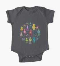 Robots in Space - black One Piece - Short Sleeve