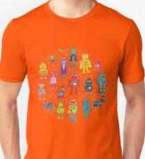 Robots in Space - black Unisex T-Shirt