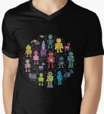 Robots in Space - black T-Shirt