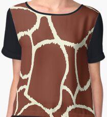 Giraffe seamless pattern texture Women's Chiffon Top