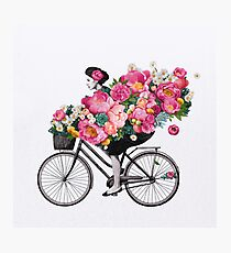 floral bicycle  Photographic Print