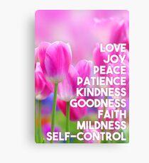 Frucht des Geistes. Galater 5:22, 23 Metallbild