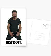 Shia LaBeouf Just Do It Postcards