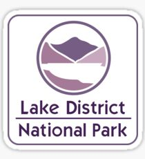 Lake District National Park Sign, England, UK Sticker