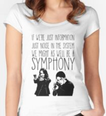 Root and Shaw - Symphony - Person of interest Women's Fitted Scoop T-Shirt
