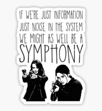 Root and Shaw - Symphony - Person of interest Sticker