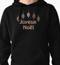 Merry Christmas in French Joyeux Noel Pullover Hoodie