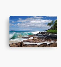 Turqouise Breakers of Makena, Hawaii Canvas Print