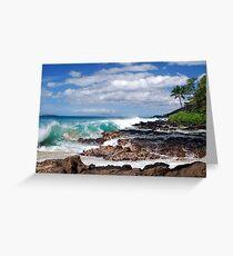 Turqouise Breakers of Makena, Hawaii Greeting Card