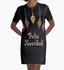 Merry Christmas in Spanish Feliz Navidad Graphic T-Shirt Dress