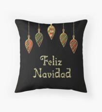 Merry Christmas in Spanish Feliz Navidad Throw Pillow