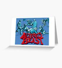 ALTERED BEAST - SEGA ARCADE Greeting Card