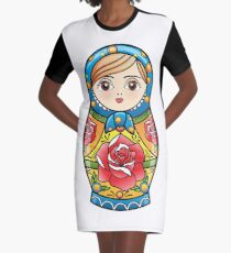 russian nesting doll Graphic T-Shirt Dress