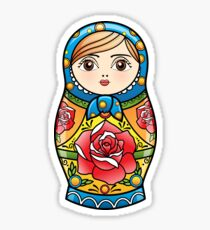 russian nesting doll Sticker