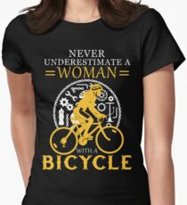 Never underestimate a bicycle woman T-Shirt