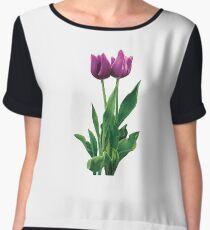Two Purple Tulips Women's Chiffon Top