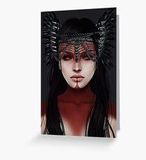 warrior.  Greeting Card