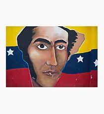 Political graffiti in Otavalo, flag and American Bald Eagle Photographic Print