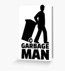 Garbage man Greeting Card