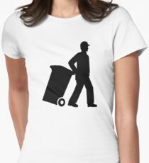 Garbage man Women's Fitted T-Shirt
