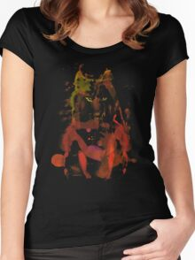 watercolor foxy 2 Women's Fitted Scoop T-Shirt