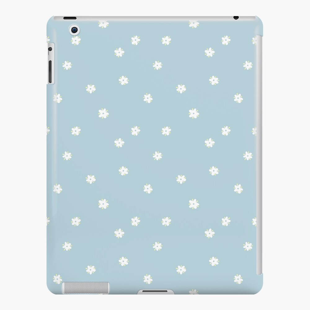 Elderflowers on baby blue, sparse iPad Case & Skin