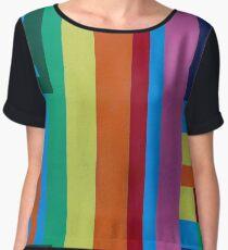 Geometric patterns in multi-colors Chiffon Top