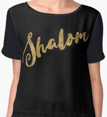 Golden Look Shalom Chiffon Top