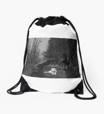 Wolf art picture Drawstring Bag