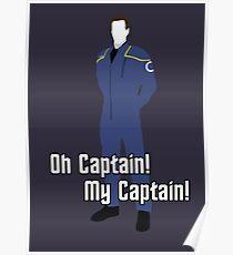 Oh Captain! My Captain! - Jonathan Archer - Star Trek Poster