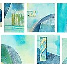 Abstract Collage Mosaic by Evelyn Flint