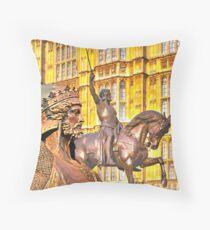 King Richard The Lion-Heart Throw Pillow