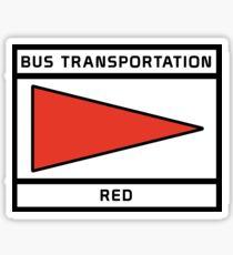 BusRed Sticker