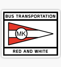 BusRedWhite-MK Sticker