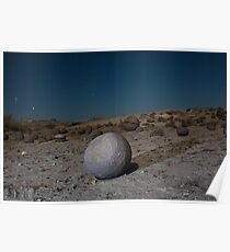 Sandstone formations in Ischigualasto at night, Argentina Poster