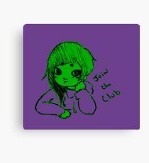 baby hulk club Canvas Print