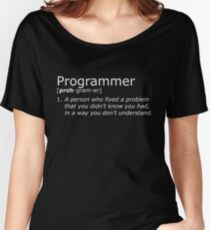 Programmer definition white Women's Relaxed Fit T-Shirt