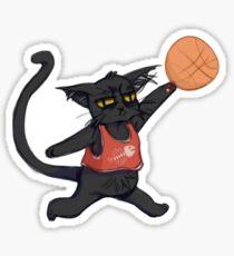 B-Ball Cat! Sticker