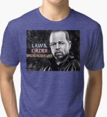 Fin Tutuola from Law and Order svu Tri-blend T-Shirt