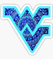 tapestry wvu flying dub v Sticker