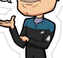 """Star Trek Voyager - EMH Emergency Medical Hologram """"The Doctor"""" Sticker"""