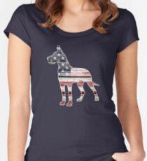 Patriotic Great Dane Women's Fitted Scoop T-Shirt