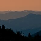 Sunset Over the Cascade Range by Jeff Goulden